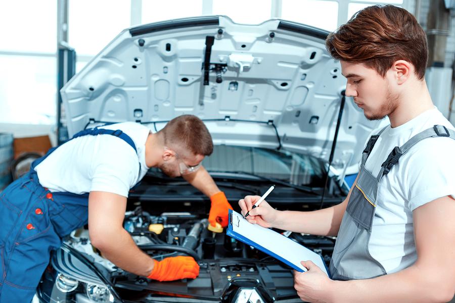 Mechanics on Vehicle Inspection